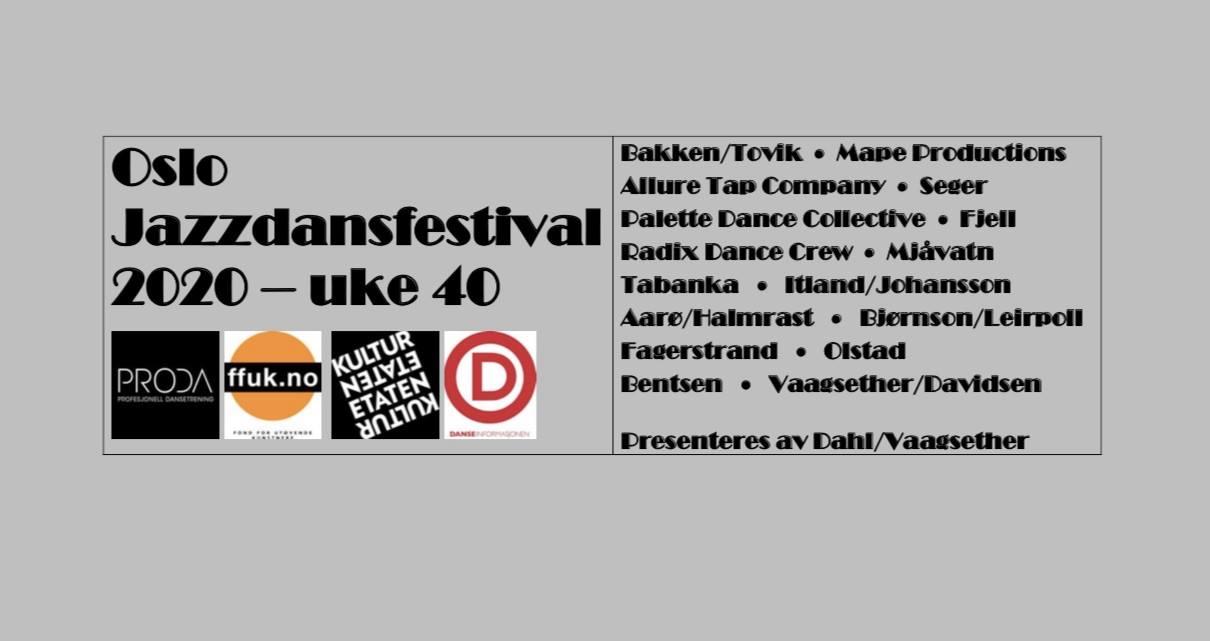 Flyer med fire logoer og program fra festival